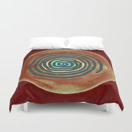 Tribal Maps - Magical Mazes #02 Duvet Cover