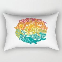 Animal Rainbow Rectangular Pillow