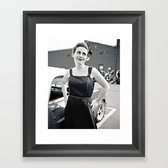 Quirky pose Framed Art Print