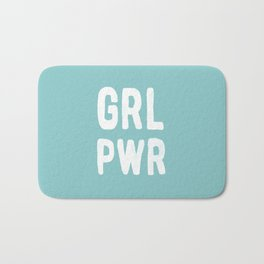 GRL PWR (Blue) Bath Mat
