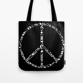 Music peace - inverted Tote Bag