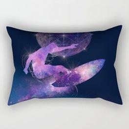 galaxy surfer Rectangular Pillow