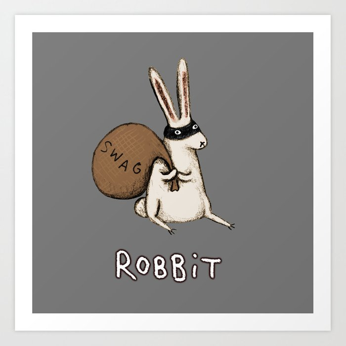 Robbit Art Print