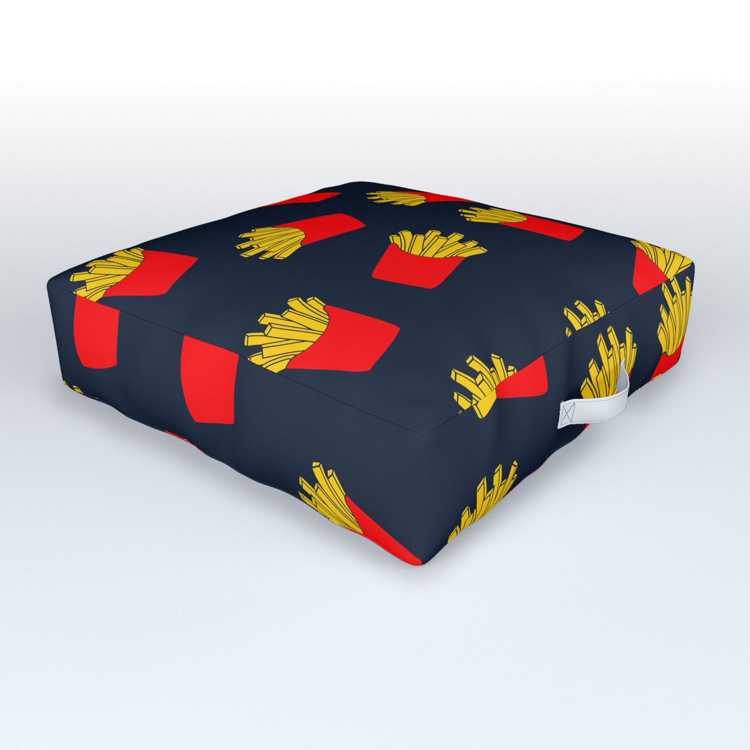 Cute Fries Outdoor Floor Cushion By