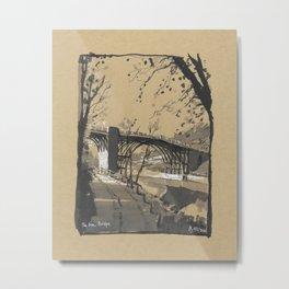 The Iron Bridge, Shropshire, England Metal Print