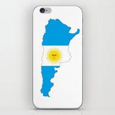 Argentina flag map iPhone & iPod Skin
