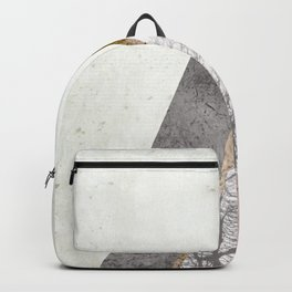 Nordic triangle geometric nature in rose gold Backpack