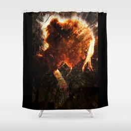 Girl from the City Shower Curtain