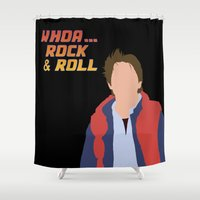 marty mcfly Shower Curtains featuring Marty McFly by Christina