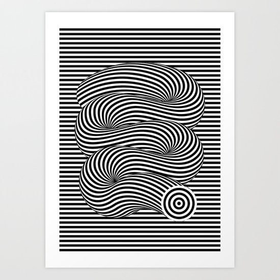 OPTICAL Slinky Art Print