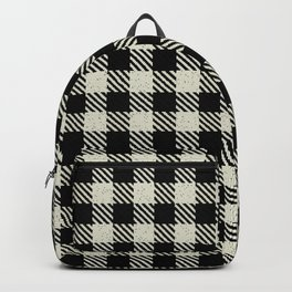 Blanched Almond Buffalo Plaid Backpack