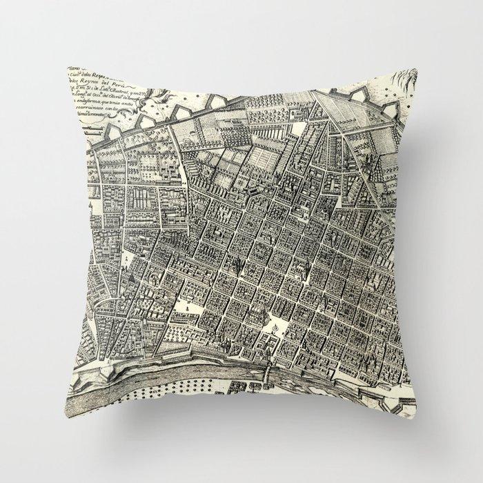 Ciudad De Los Reyes Del Peru En 1744 Throw Pillow By Amhq Society6