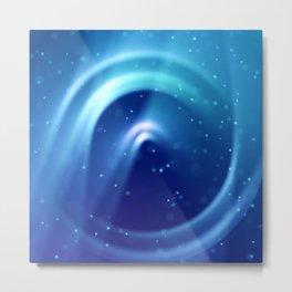 Center of Blue Galaxy Metal Print