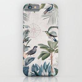 Tropical Birds Paradise Vintage Botanical Illustration iPhone Case