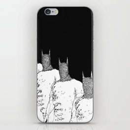 The Bat Black and White Fading Away iPhone Skin