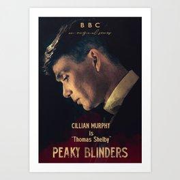 Peaky Blinders, Cillian Murphy, Thomas Shelby, BBC Tv series, gangster family Art Print