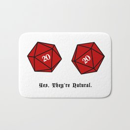 Yes, They're Natural. D20 Bath Mat