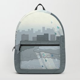 Rain in the city Backpack