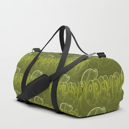 Torquay Typography - Lime Punch Duffle Bag