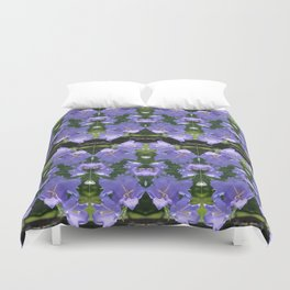 Purple flowers of Seattle Duvet Cover
