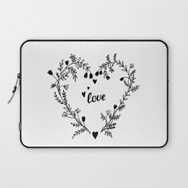 Floral heart Laptop Sleeve