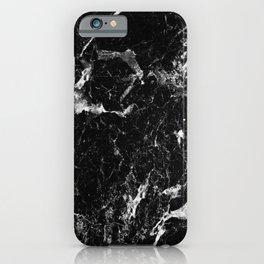 black white marble iPhone Case