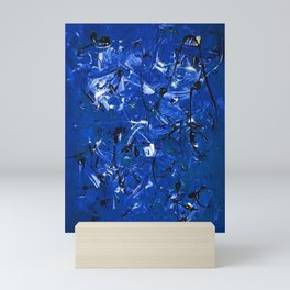 Blue Chaos Mini Art Print