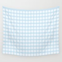 snowflake Wall Tapestries featuring Snowflake by Laura Maria Designs