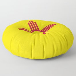 New Mexico State Flag Floor Pillow