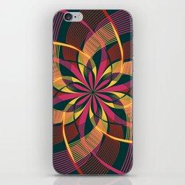 Bohemian Style Moody Colors, Yoga Love Mandala iPhone Skin