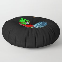 Ride to Mars selfie Floor Pillow