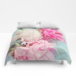 3 peonies Comforters