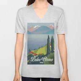 Lake Como Italy Unisex V-Neck