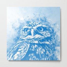 owl portrait 5 wswb Metal Print