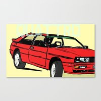 audi Canvas Prints featuring AUDI QUATTRO BRITISH EDITION 20V RED and BEIGE by Егор Шиянов
