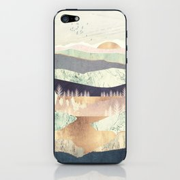 Golden Spring Reflection iPhone Skin