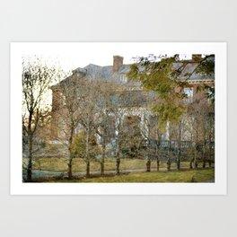 The Secret Garden Mansion Art Print