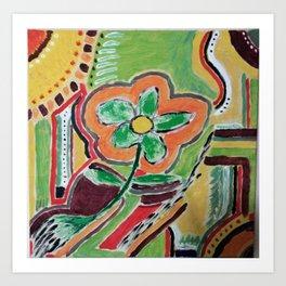 """ the flower "" Art Print"