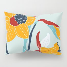 Mid Century spring flowers Pillow Sham