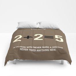 Lab No. 4 - Albert Einstein Motivational Quotes Poster Comforters
