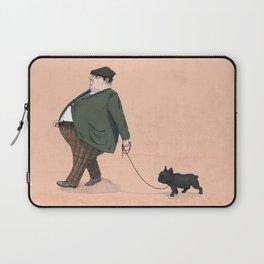 A Man with a Dog Laptop Sleeve