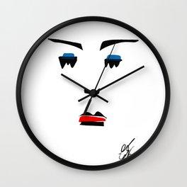 Portrait Minalist Dada Bahaus Wall Clock