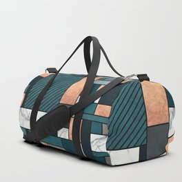 Random Pattern - Copper, Marble, and Blue Concrete Duffle Bag