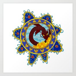 Red Dragon Emblem Art Print