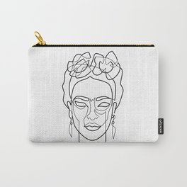 Woman Hair Dos Drawing in One Line Carry-All Pouch