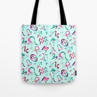 zodiac Tote Bags featuring Zodiac  by Art Tree Designs