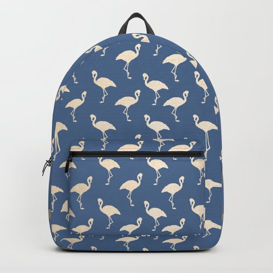 Gold Flamingo on Aegean Blue Backpack