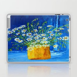 Daisies by the blue wall  Laptop & iPad Skin
