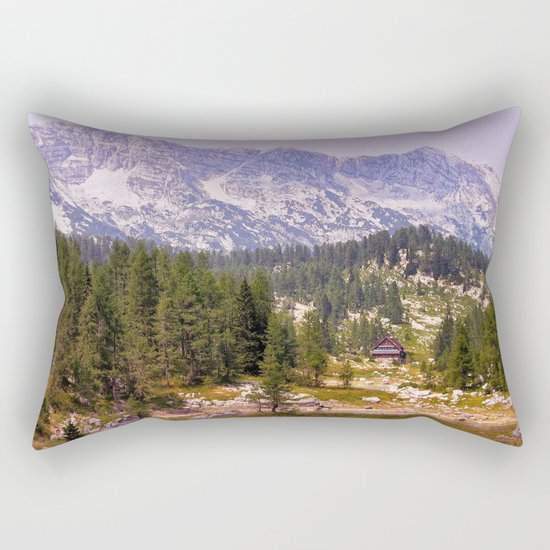 In the mountains Rectangular Pillow