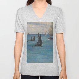 "Édouard Manet ""Sea View, Calm Weather (Vue de mer, temps calme)"" Unisex V-Neck"